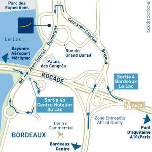 Novotel Bordeaux Le Lac Map