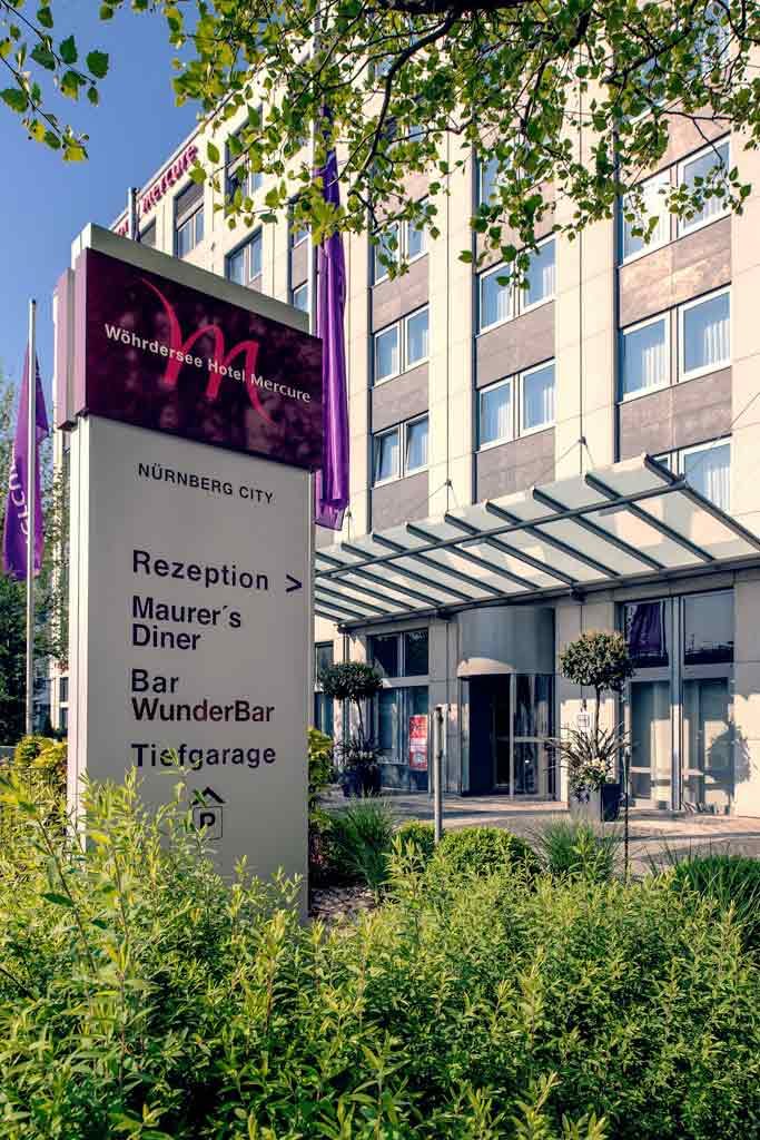 Wöhrdersee Hotel Mercure Nürnberg City Außenansicht