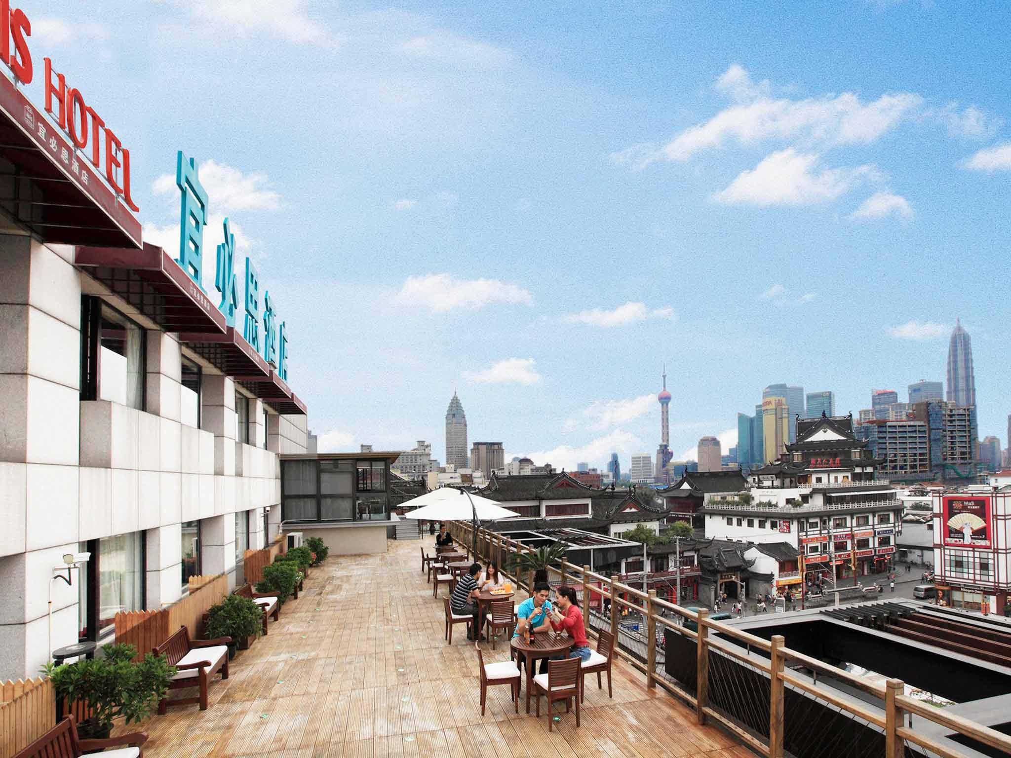 ibis Shanghai Yu Garden Hotel Kilátás a szabadba