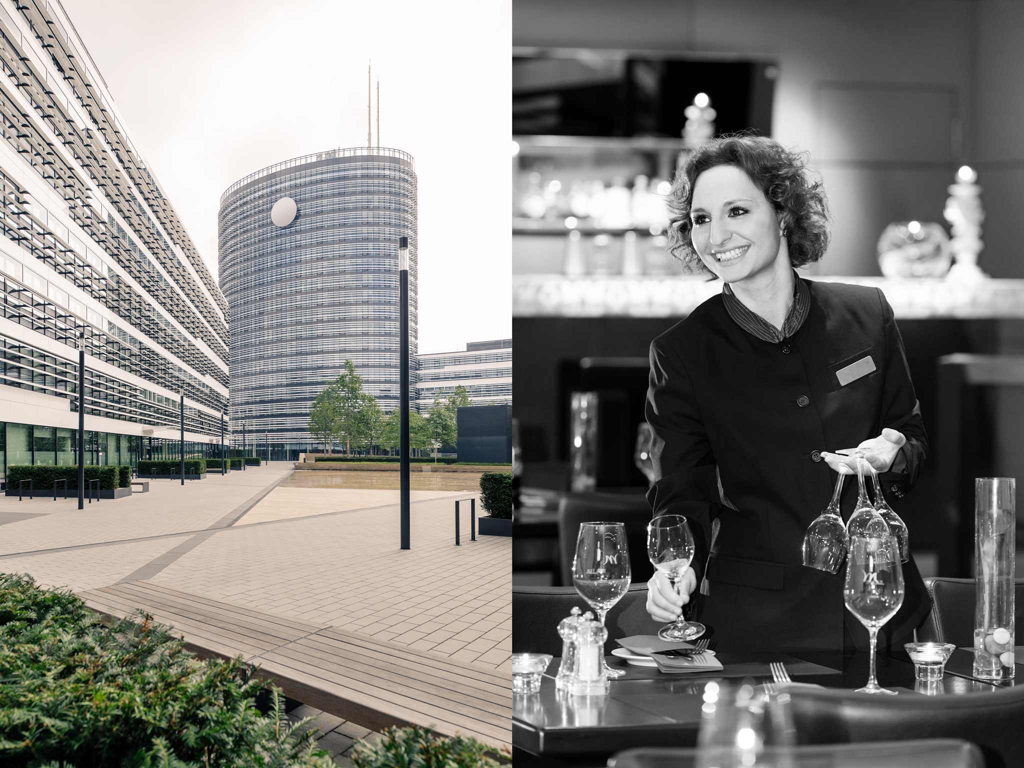 Mercure Hotel Seestern Düsseldorf Außenansicht