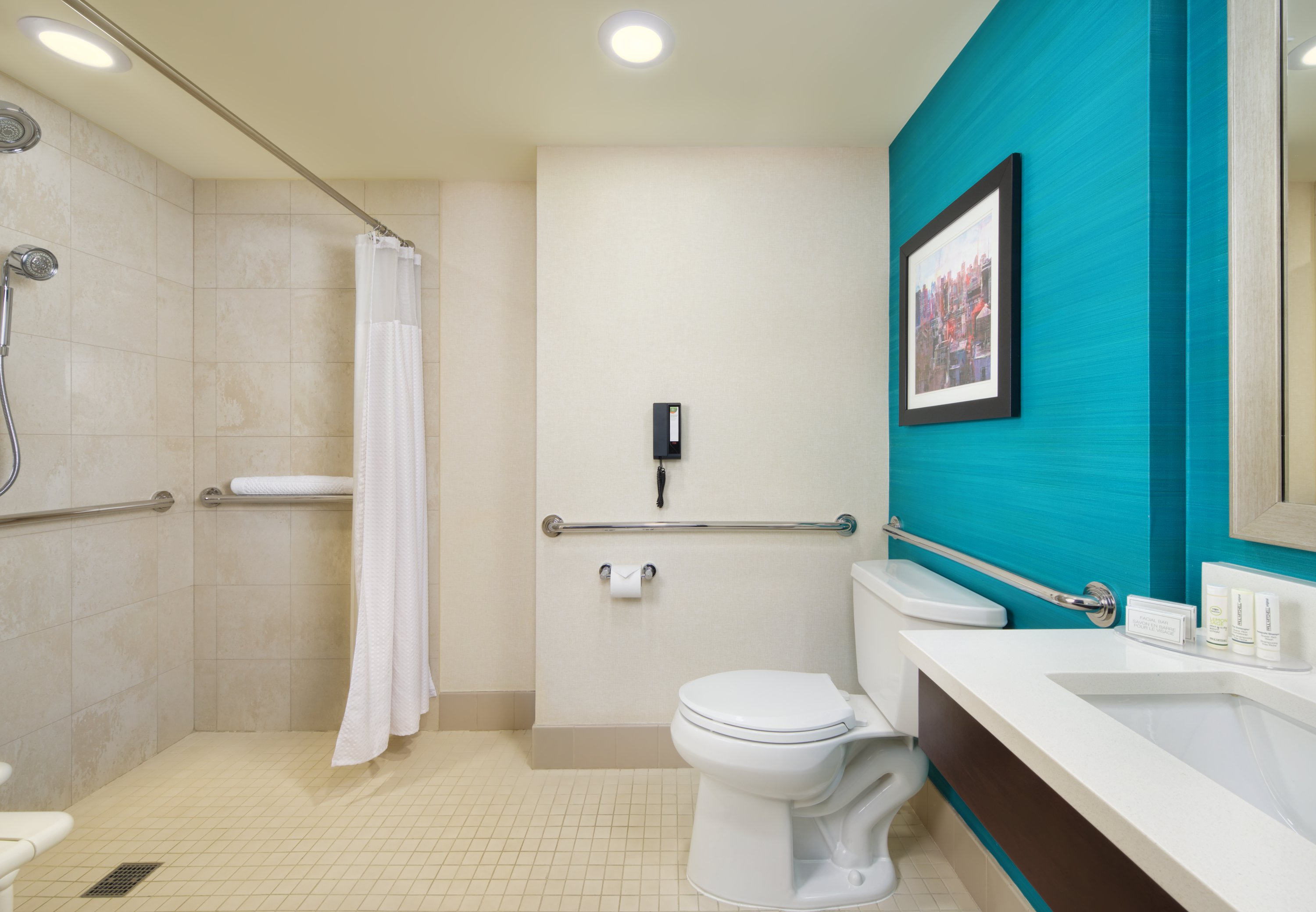 Accessible Bathroom Nyc hotel rooms near time square| hotel rooms in manhattan nyc