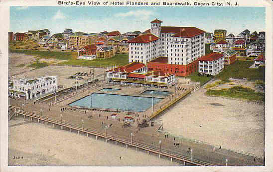 Built in 1923 the flanders hotel for Pool show new jersey