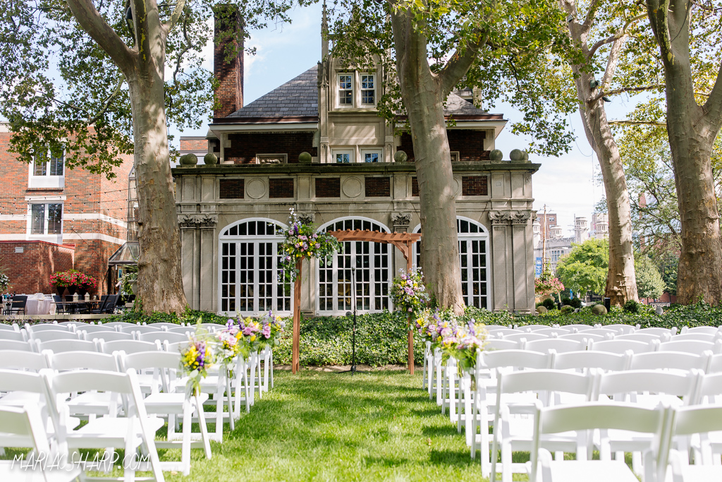 Romantic weddings venues in cleveland ohio glidden house outdoor wedding reception junglespirit Image collections