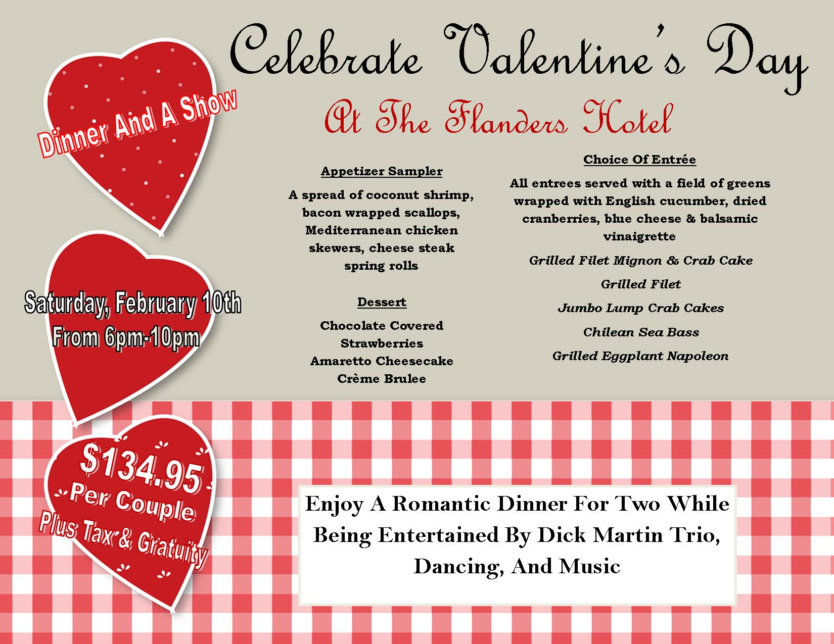 save with specials packages the flanders hotel valentine